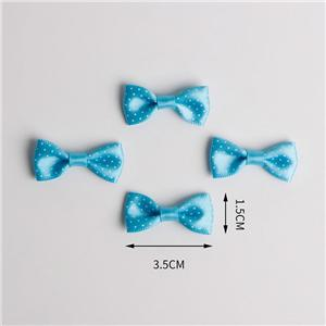 Polka dot satin ribbon bow flat ribbon bow for garment accessories