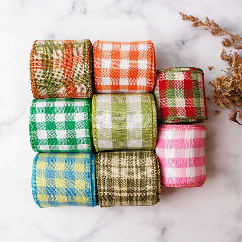 plaid burlap ribbon