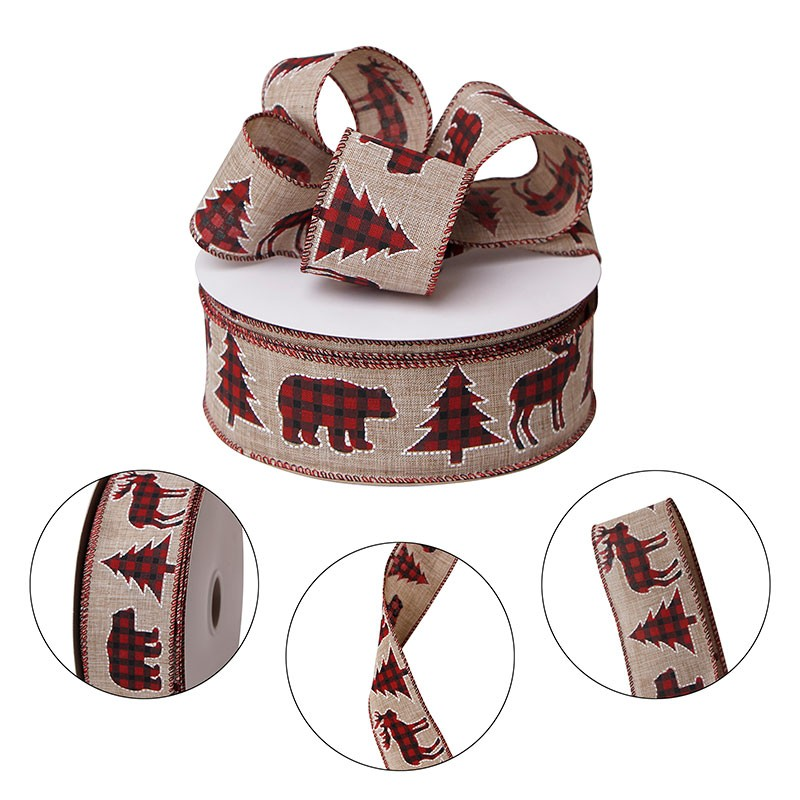 custom burlap ribbon,printed burlap ribbon,wired edge burlap ribbon