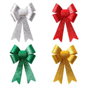 PVC fabric ribbon bow custom bows for wedding decoration