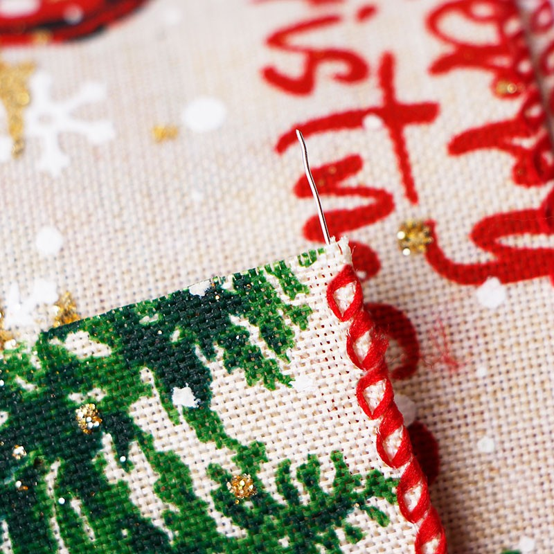 유선 가장자리 휴일 리본, 삼베 유선 리본, 크리스마스 트리 인쇄 리본