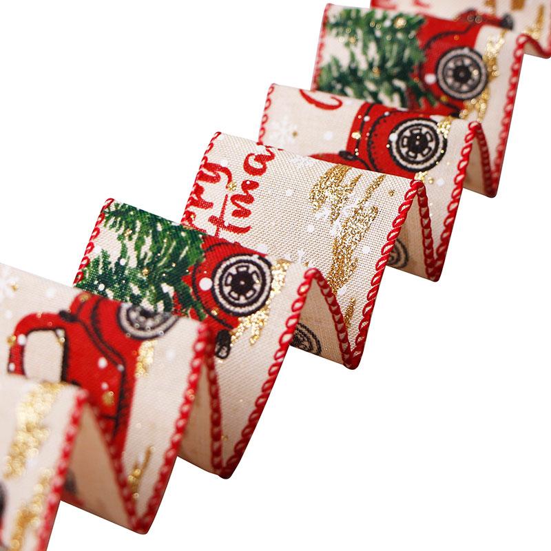 burlap wired ribbon