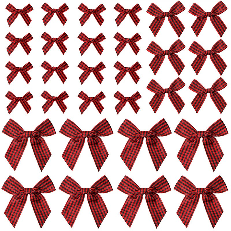 Mini Gingham Ribbon Bows Gingham Craft Ribbon Bows Mini Checkered Ribbon Flowers