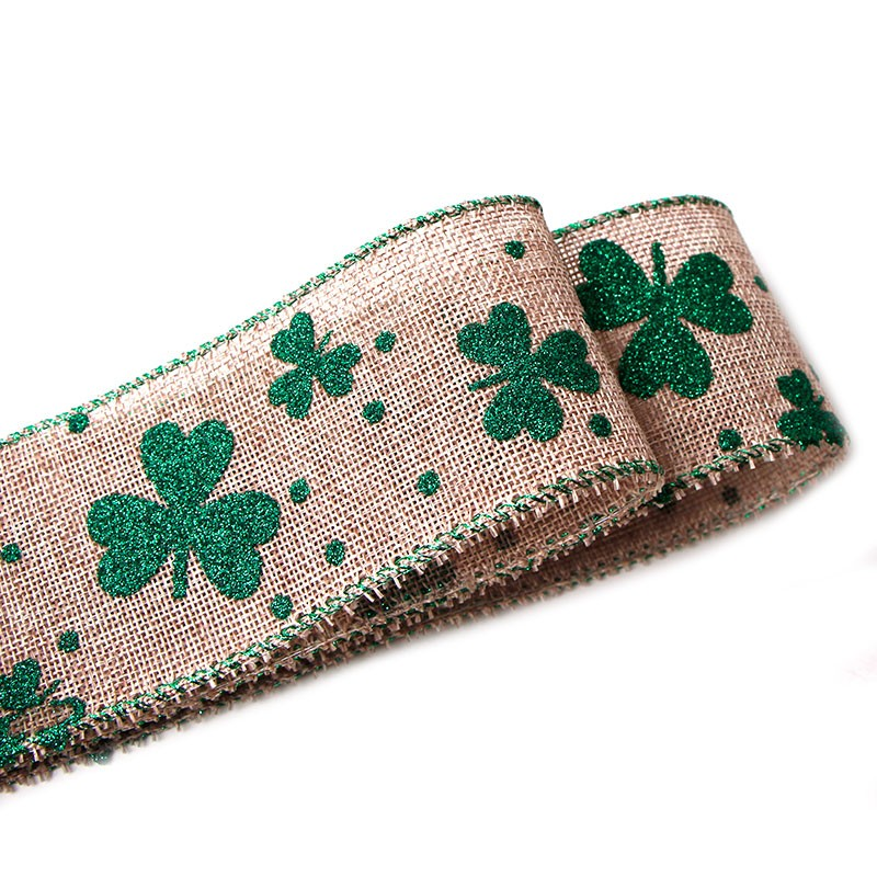 burlap ribbon wired,Irish ribbon,Wired edge ribbon