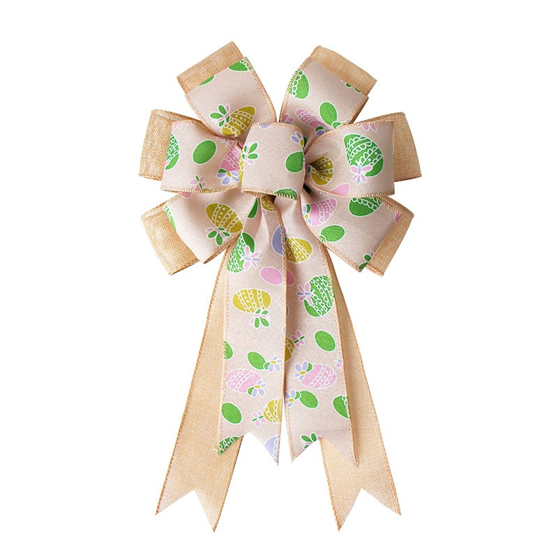 Spring ribbon bow,decorative ribbon bows,Easter ribbon bow