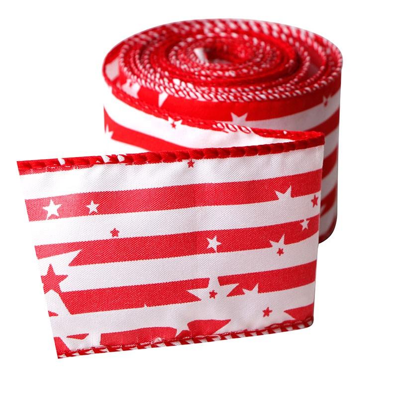 愛国的なリボン、2 1/2インチの有線黄麻布リボン、死の黄麻布リボン 』の日