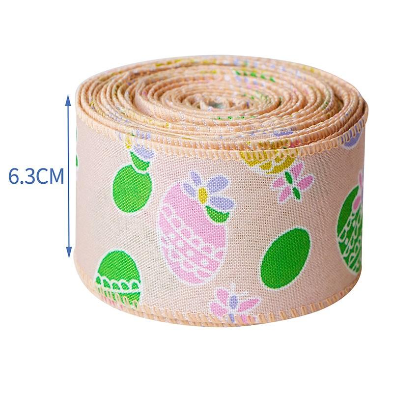 cinta de pascua de primavera, cintas de arpillera de pascua, cinta de arpillera con cable