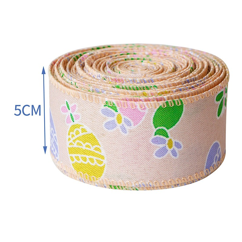 spring easter ribbon,easter burlap ribbons,burlap ribbon wired
