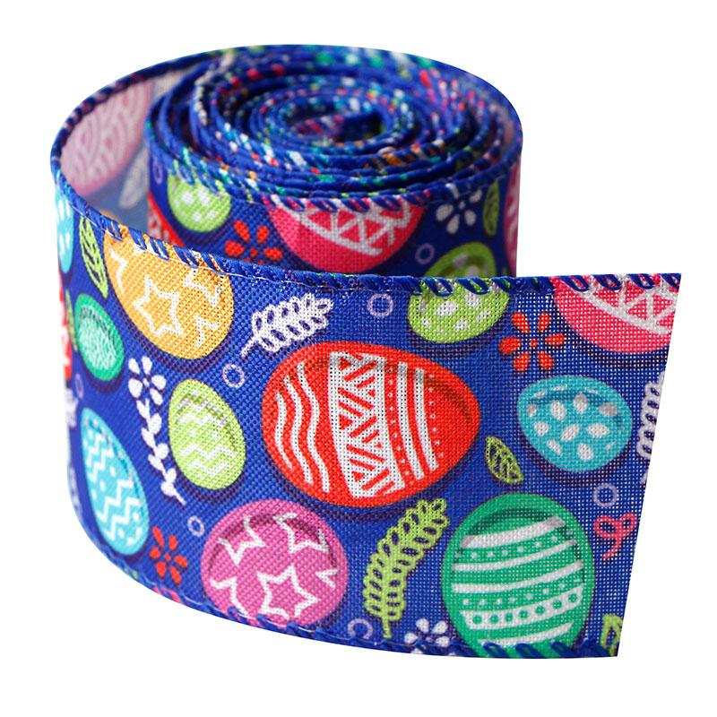 line edge burlap ribbon