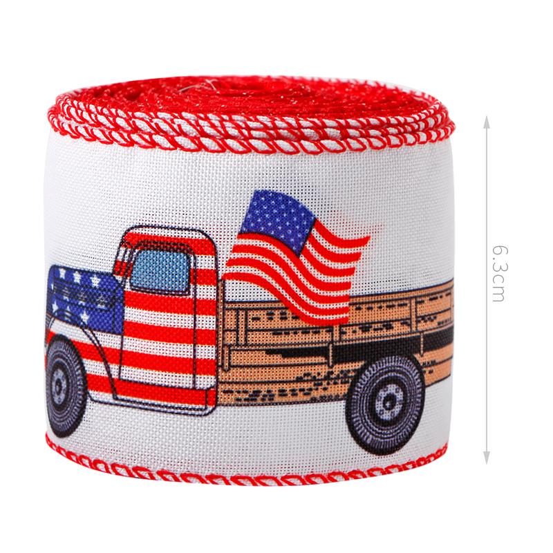 Patriotic Burlap Ribbon