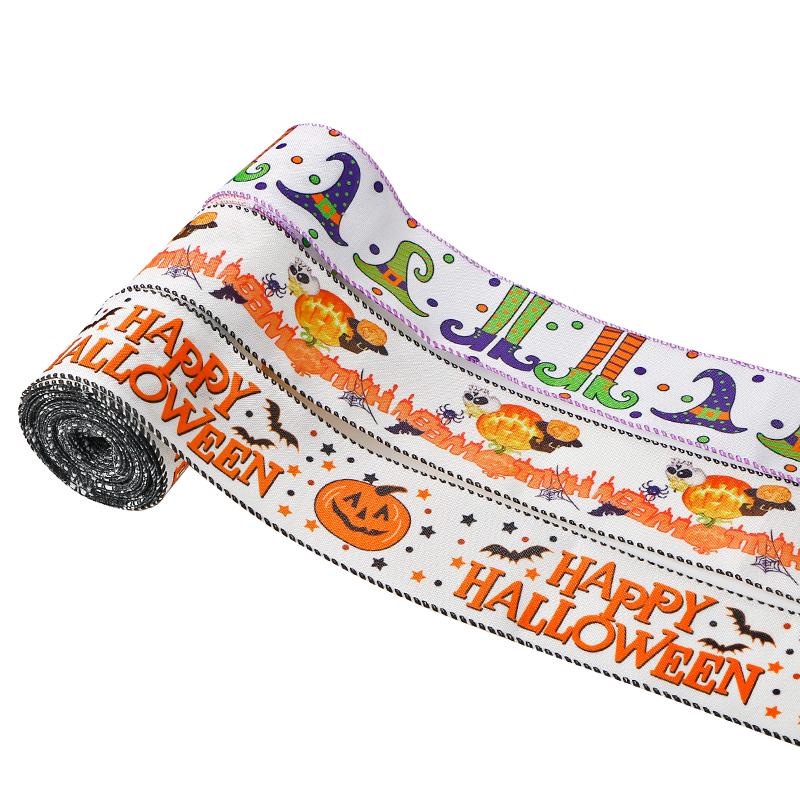 Halloween wired edge ribbon