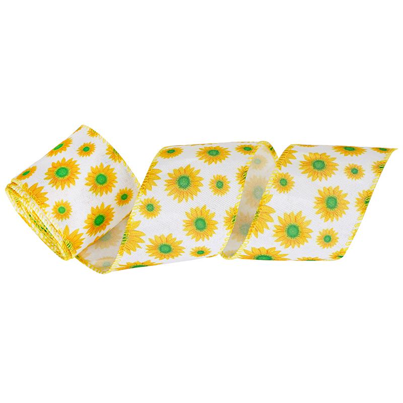 Lemon wired ribbon