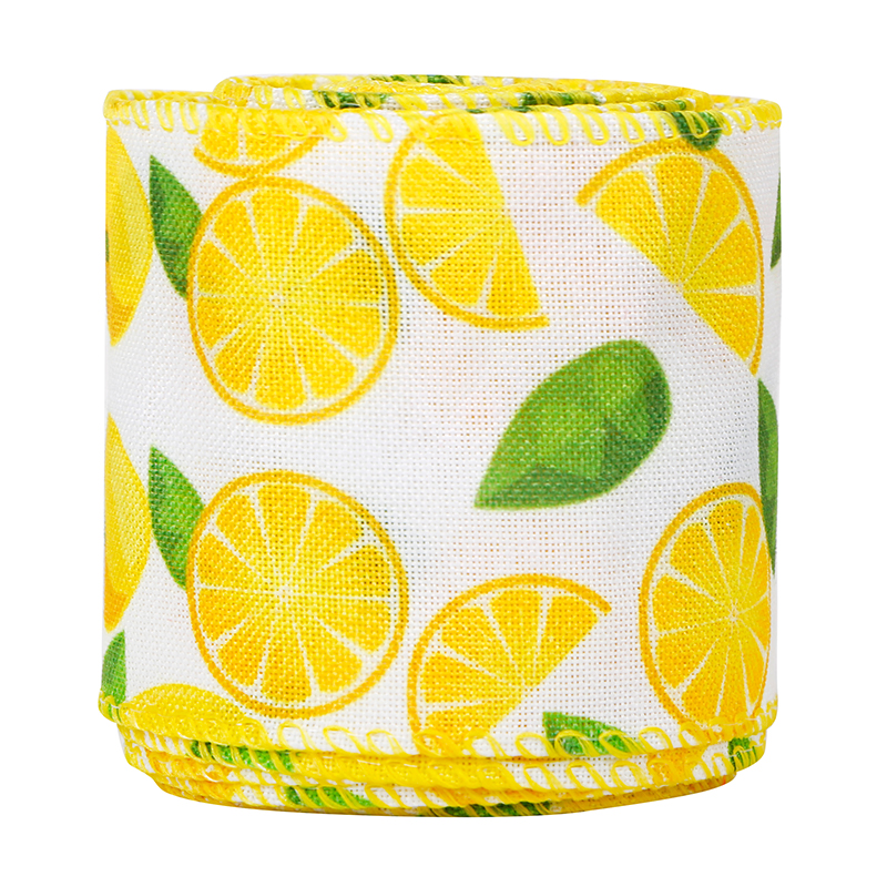 Lemon burlap ribbon