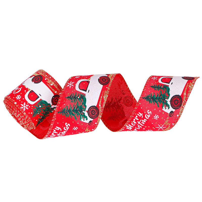 Christmas Wired Edge Ribbons