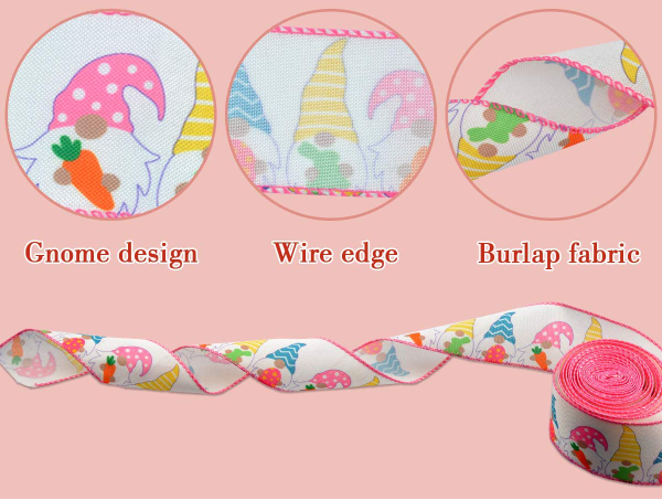 Easter Wired Edge Ribbon