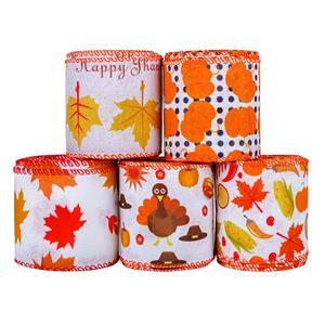 Nastro decorativo autunnale raccolto autunno nero arancione Buffalo plaid autunno Hayride plaid nastro per confezionamento artigianale festa autunnale giorno del ringraziamento