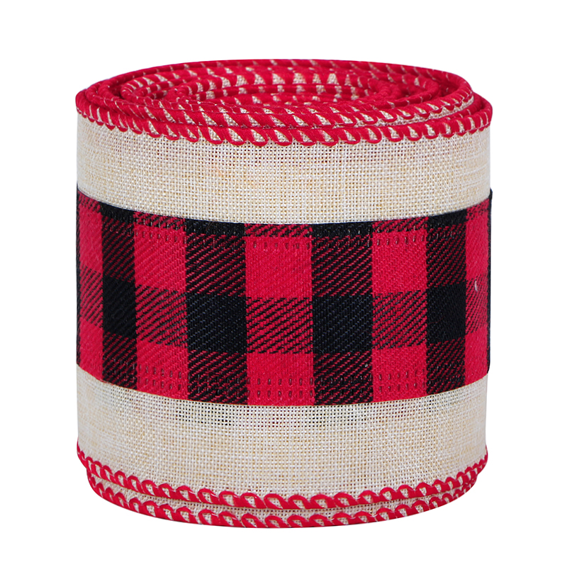 Christmas Wired Plaid Ribbons