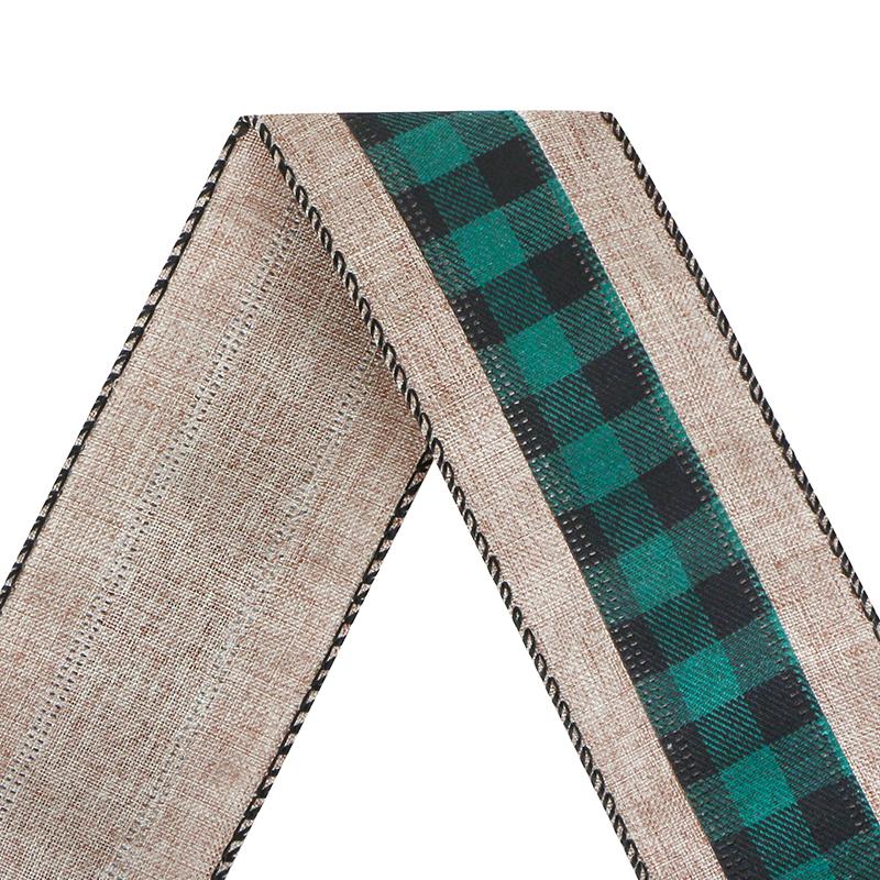 Christmas Burlap Fabric Craft Ribbon
