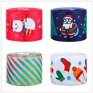 Ruban imprimé ruban gros-grain de Noël personnalisé pour emballage cadeau