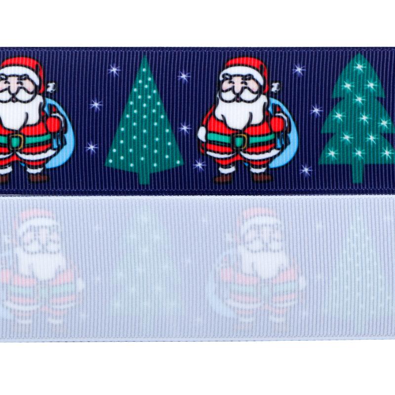 Ruban gros-grain de Noël,ruban imprimé gros-grain,Rubans imprimés de Noël