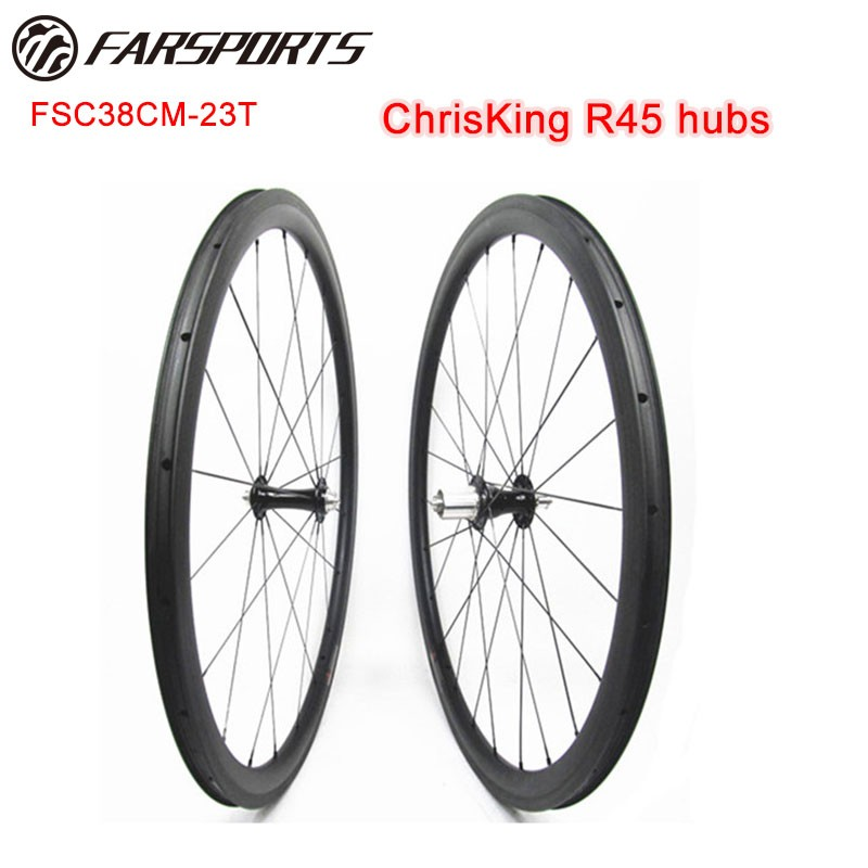 Tubeless Compatible 38mm X 23mm Carbon Clincher With Chris King Hub
