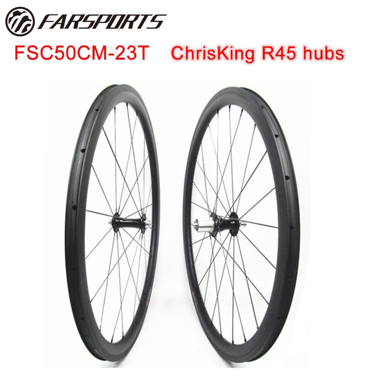 Tubeless Compatible 50mm Carbon Wheels With Chris King Hub