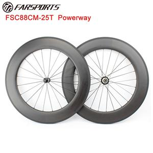 88mm Carbon Clincher Wheelset With Powerway Hub