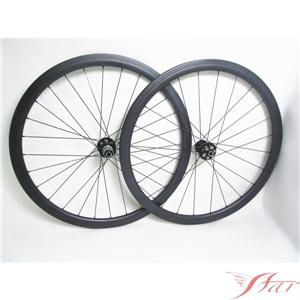 Tubular Disc Brake Wheels 24H/24H With Novatec FSC38-TM-25D road disc carbon wheel
