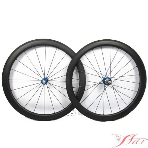 UCI Approved 50mmx25mm Carbon Clincher Wheels With White Industry Hub