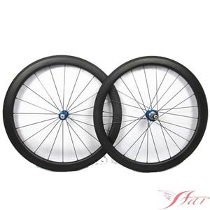50mm Road Bike Wheels Tubeless With White Industry Hub