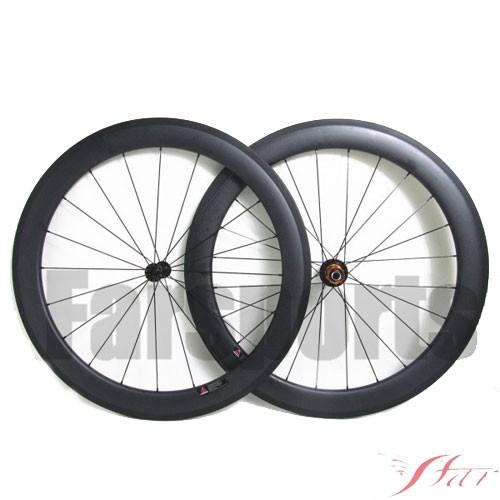 60mm X 23mm Carbon Clincher Wheels With Edhub