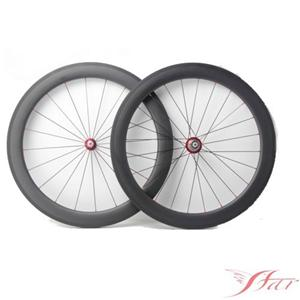 60mm Bicycle Wheels Clincher With White Industry Hub