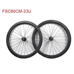 60mm Road Disc Carbon Wheels 28H/28H With Novatec Disc Hub