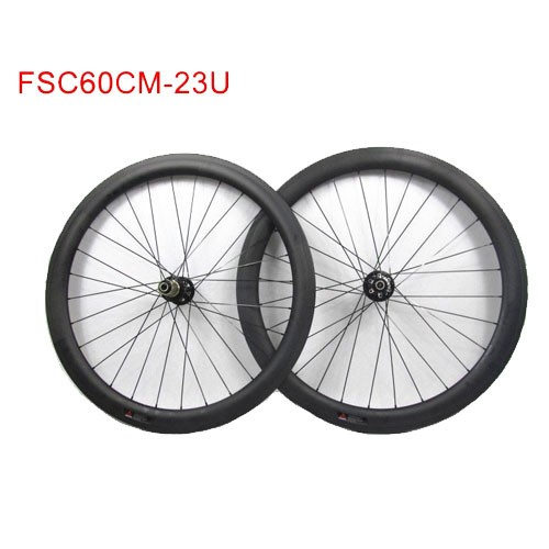 60mm Tubeless Carbon Wheels With Novatec Disc Hub