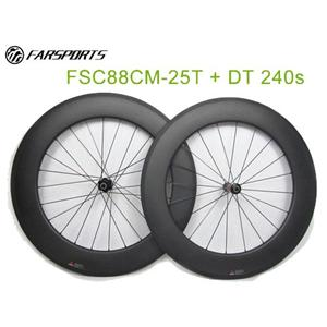 88mm Tubeless Carbon Bike Wheels