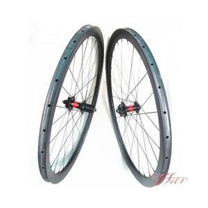 Carbon Wheels Road Disc Tubular 28H/28H thru axle