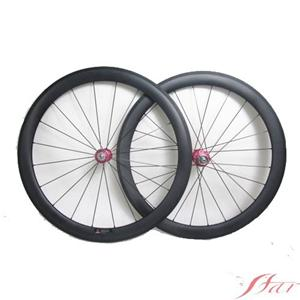 Tubular Bicycle Wheels Carbon 700C 20H/24H With Chris King Hub