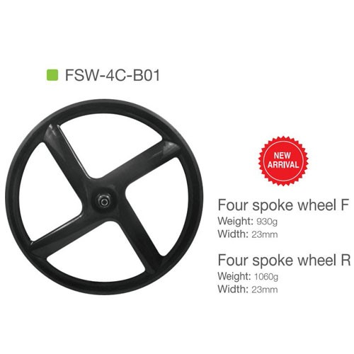 4 Spoke Carbon Wheel Clincher