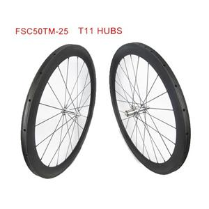 Tubular Carbon Road Bike Wheel Set With White Industry Hub