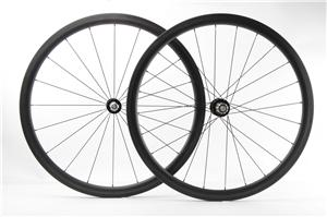 Chinese 700C carbon road wheelsets 38mm 25mm bicycle carbon wheels Chris King R45 hub and Sapim aero spokes, 1410g