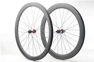 Chinese carbon wheels 58mm deep 28mm wide tubeless for gravel riding