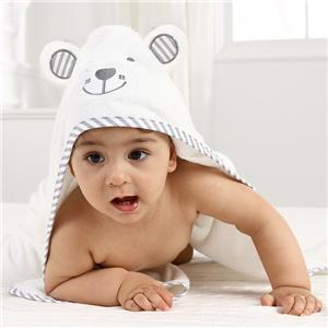 Smile Bear bamboo hooded baby towel