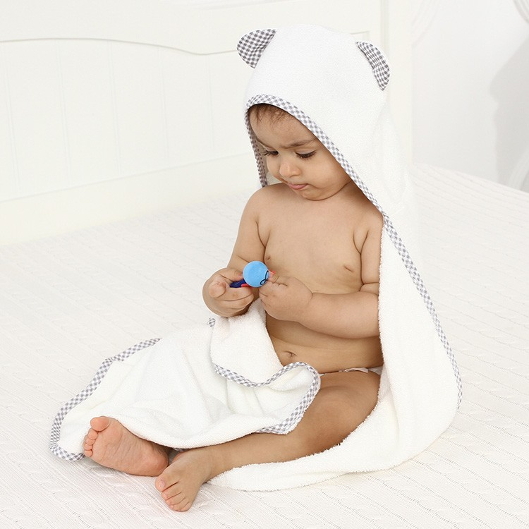 Bamboo bear hooded baby towel hand towels