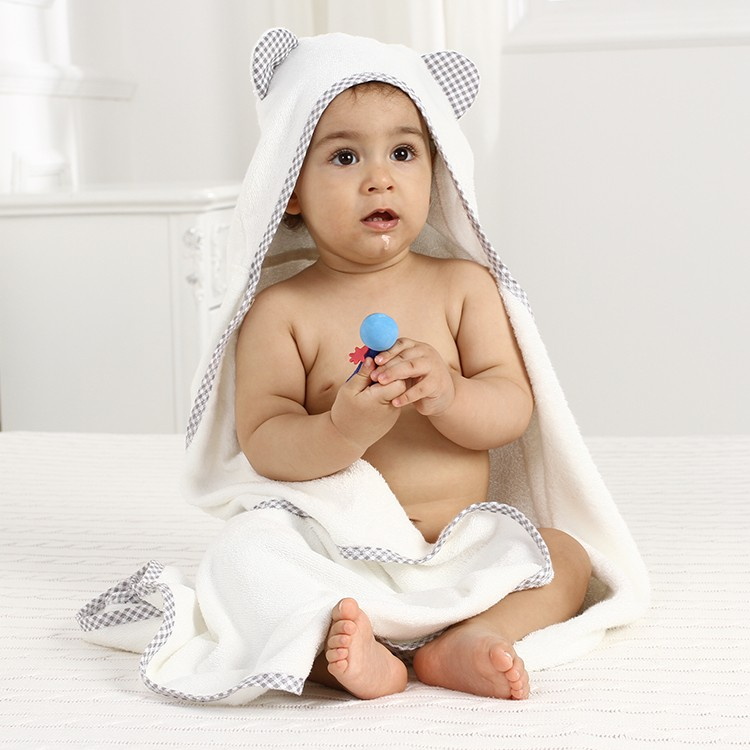 custom baby  towel bamboo
