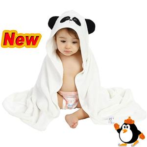 Multiple function bamboo baby hooded towel washcloth