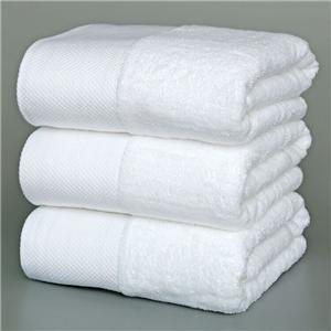 Cotton satin hotel towel