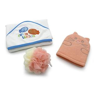 350GSM bamboo cotton embroidery baby hooded towel