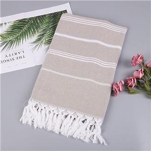 Color strip cotton tassels beach towel