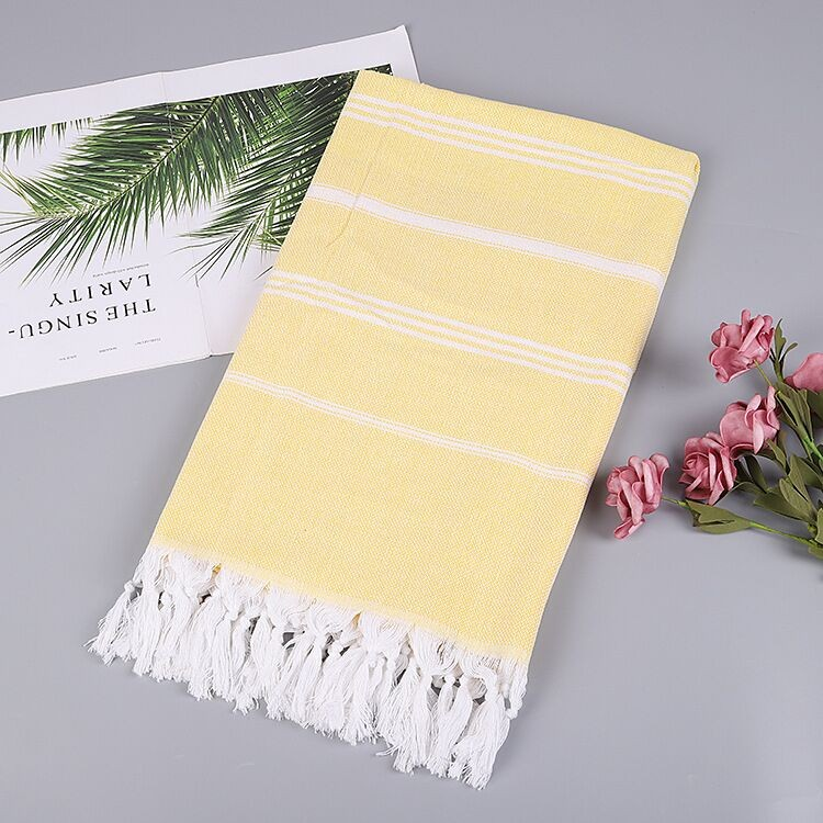 Color strip cotton tassels beach towel Manufacturers, Color strip cotton tassels beach towel Factory, Supply Color strip cotton tassels beach towel