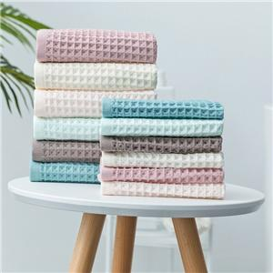 high quality 100% cotton waffle sport towel weave face towel hair towel